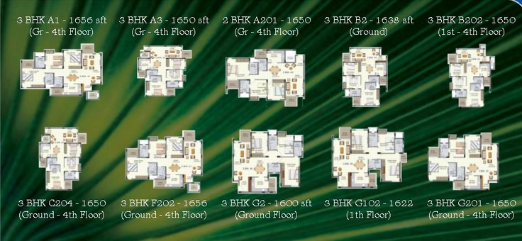 Bren Palms 3bhk Plans. Click on the image for Detailed Plans