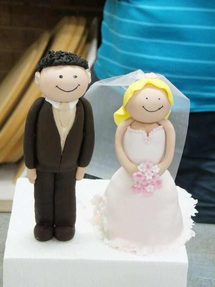 Bride and Groom Figurines - Planet Cake
