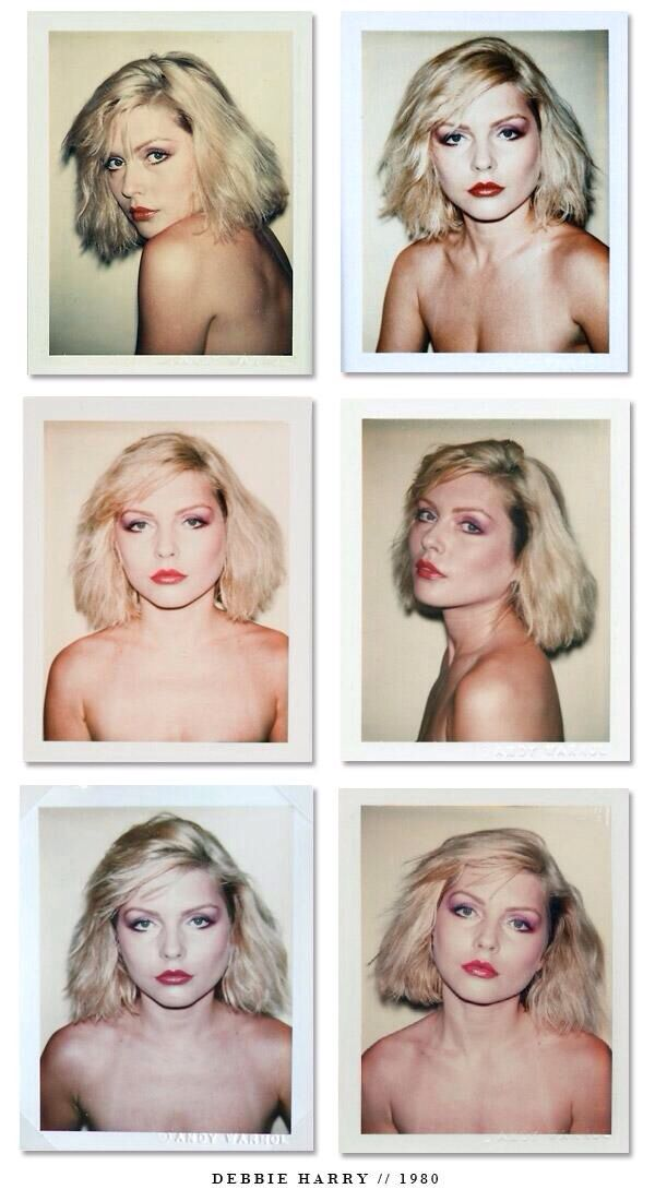 Debbie Harry Polaroids by Andy Warhol