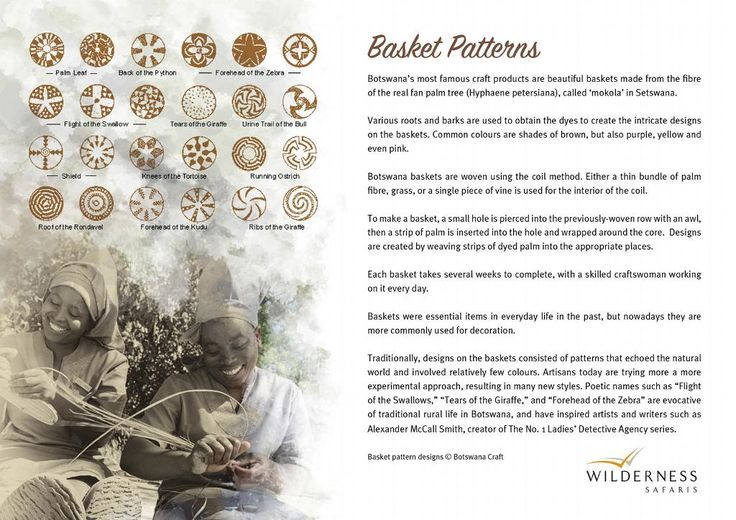 Did you know? Each basket woven by our talented staffers at Vumbura Plains has a fascinating story behind its pattern!