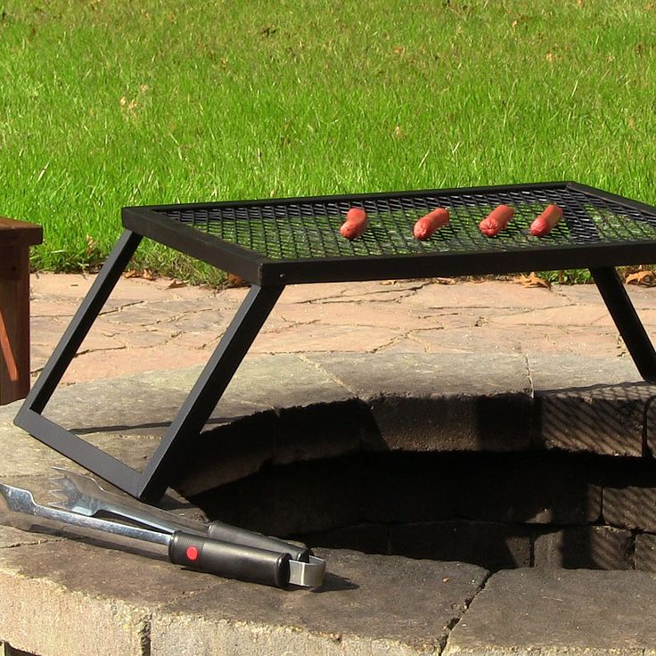 Sunnydaze Portable and Foldable Large Fire Pit Grill
