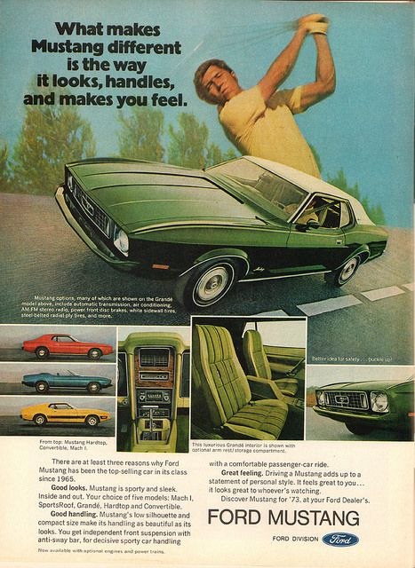 The Oldie But Goodie 1973 Ford Mustang Advertisement
