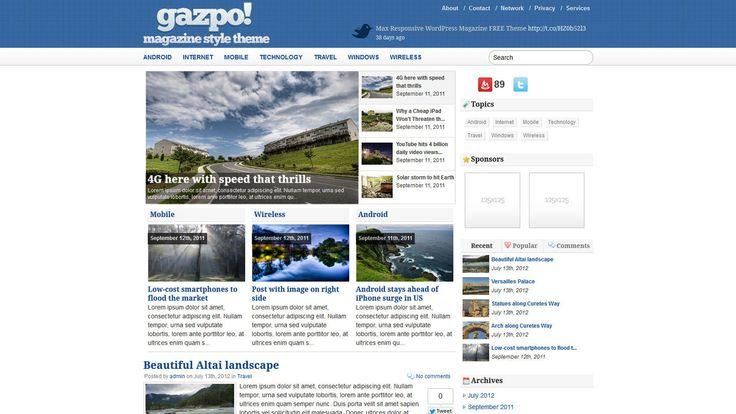 Gazpo! WP-Theme - Download: http://gazpo.com/2011/09/gazpomag-magazine-style-wordpress-theme/