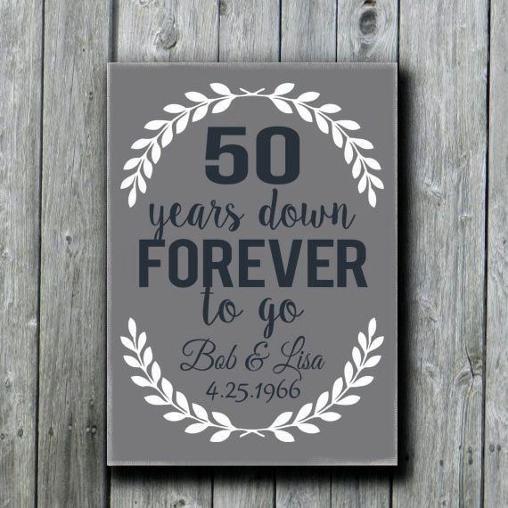 50th Anniversary Gift Grandparents' by doudouswooddesign on Etsy