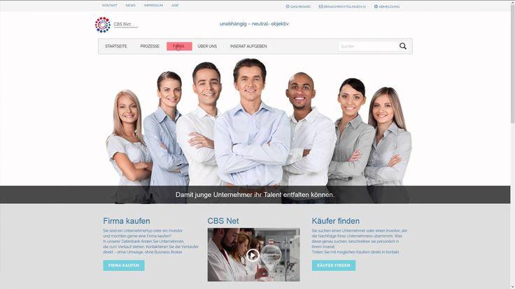 Auf CBS Net können Sie: Firmeninserate anonym platzieren Mit möglichen Käufern anonym in Kontakt treten Sich ein E-Mail senden lassen (Abo-Service), wenn sich ein passender Käufer neu auf der Plattform registriert hat Ihr Firmenprofil im Inserat hinterlegen Mittels E-Mail Benachrichtigungsservice... Mehr unter: http://www.cbsnet.ch/so-funktionierts/