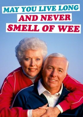 Never Smell Of Wee | Happy Birthday or Retirement Card #rude #funny