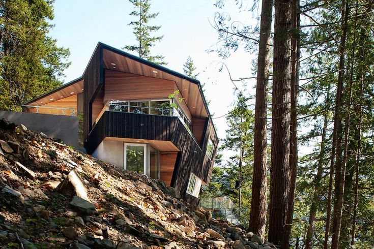 Gambier Island Retreat by Battersby Howat Architects: Angles, Ceilings Beams, Gambier Islands, Howat Architects, Lakes Houses, Battersbi Howat, Islands Retreat, Modern Houses, Houses Design