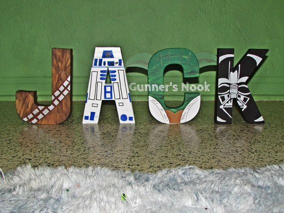 Star Wars Character Letter Art by GunnersNook on Etsy