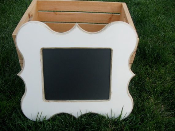 Antiqued white CATE chalkboard 8X10