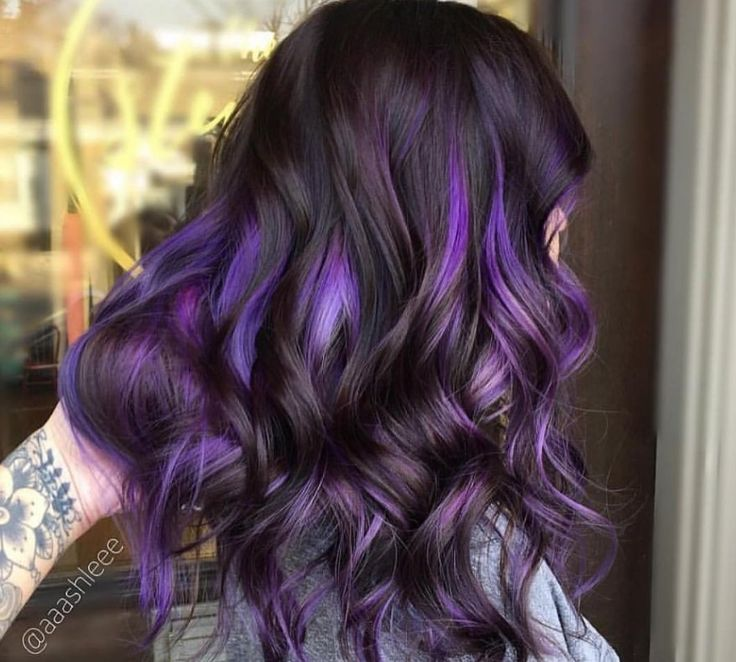 Think purple is too bold to work as a hair colour? Well, to convince you otherwise, see our gallery of purple highlights from Instagram, now! | All Things Hair - From hair experts at Unilever
