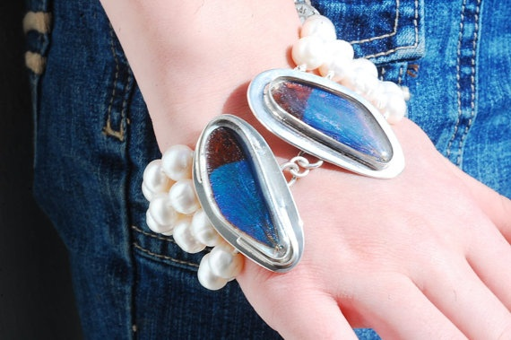 Real Dragon fly wing bracelet with large by NicoleThomasJewelry, $339.00
