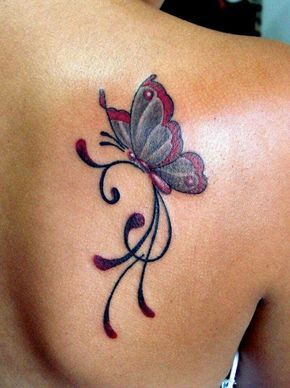I don't normally like Butterfly Tattoos,but I have to admit that this one is nicely done.