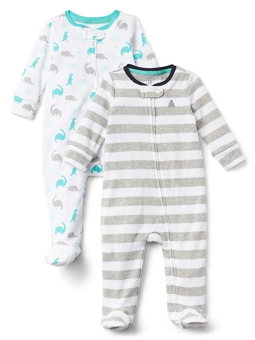 461c2388d Gap Baby Cuddle   Play Print Footed One-Piece White