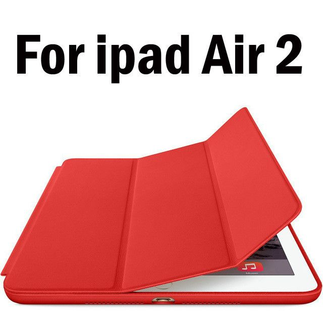 For ipad air 2 Smart Case Magnetic Ultra Slim Pu Leather Cover Flip Stand for ipad air 1 ( iPad 5 6 ) Auto Sleep/Wake up
