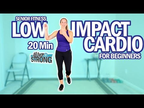 senior fitness 20 min low impact cardio workout for