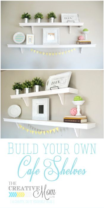 DIY Cafe Shelves
