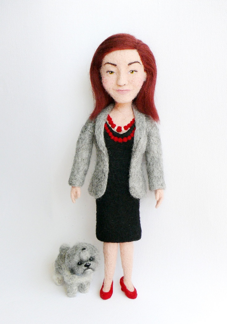 Personalized needle felted doll
