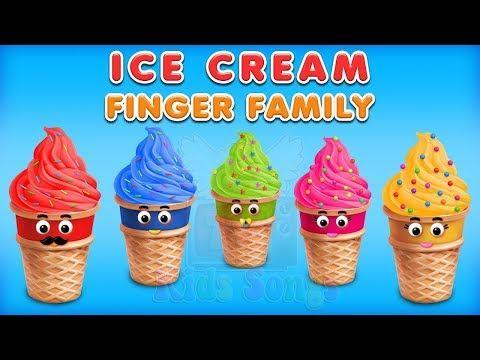 Ice Cream Finger Family Collection   Ice Cream Finger Family Song Nurser...
