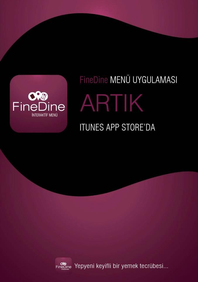 FineDine iPad Menü App Store'da. Available on App Store.  http://www.finedinemenu.com/