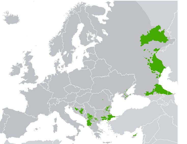 Areas of Muslim Majority in Europe