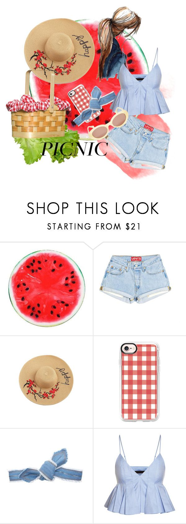 """""""picnic"""" by fashionlimitededition ❤ liked on Polyvore featuring Casetify and Colette Malouf"""