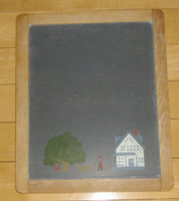 Vintage Small Chalkboard Small Chalkboard Slate by thebookcase
