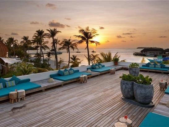 Two weeks to go and I will be sipping a Cosmo in one of those chairs!!! Holiday Inn Resort Kandooma Maldives - South Malé Atoll