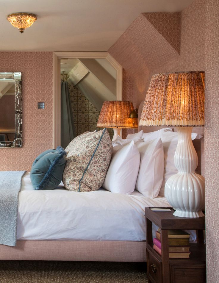 Pastel Pink Loft Room at Babington House   Bedroom