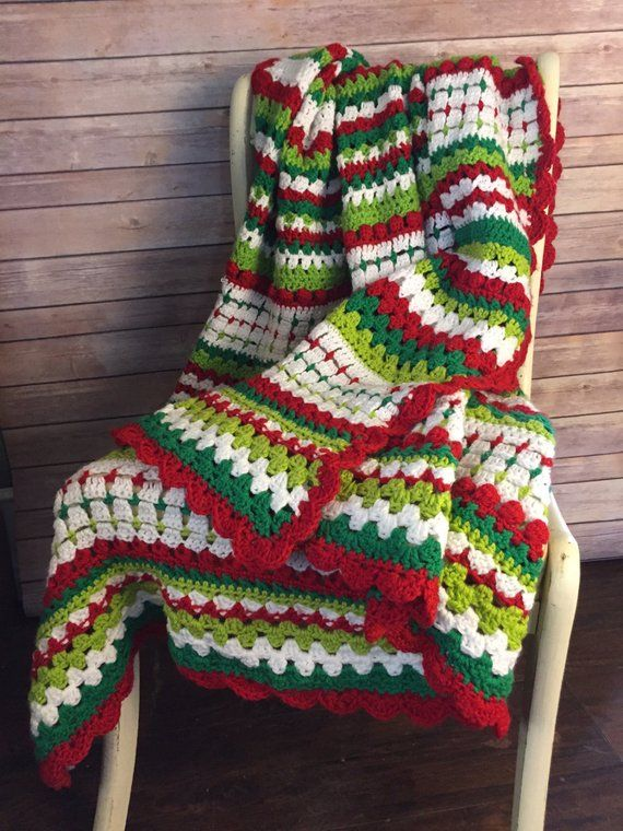 Holly Jolly Crochet Christmas Afghan Pattern Products Christmas