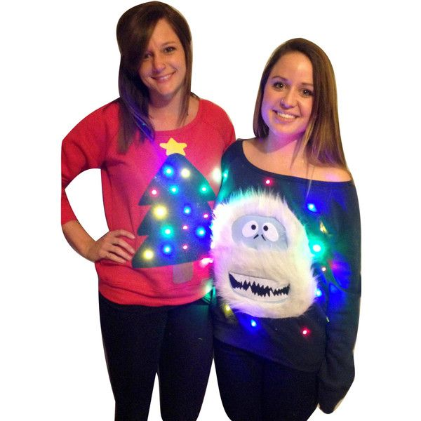 Woman's Ugly Christmas Sweater Christmas Tree Lights Up Off the... ($59) ❤ liked on Polyvore featuring tops, black, women's clothing, christmas tree top, off the shoulder shirts, christmas shirts, checkered shirt and off shoulder tops