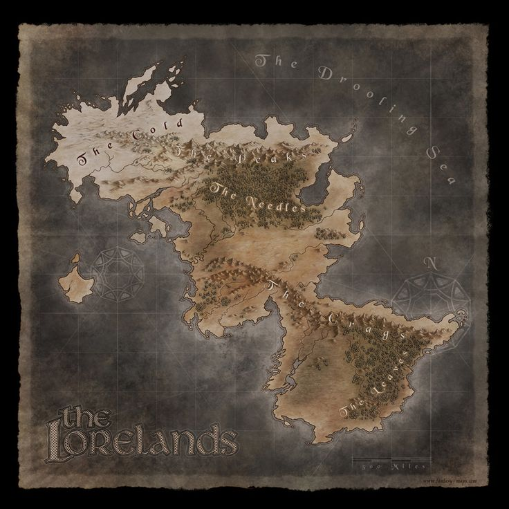 Herwin Wielink cartography The Lorelands
