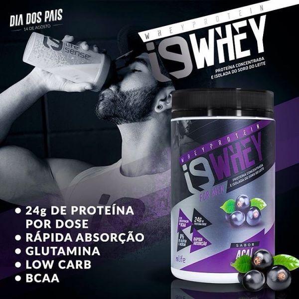 O i9 Whey For Men de Açaí é um suplemento proteico destinado a atletas para aumento da massa muscular. Fornece 24g de proteína por dose, glutamina, low carb, BCAA, é de rápida absorção, zero açúcar e não contém glúten. Proteína conce...