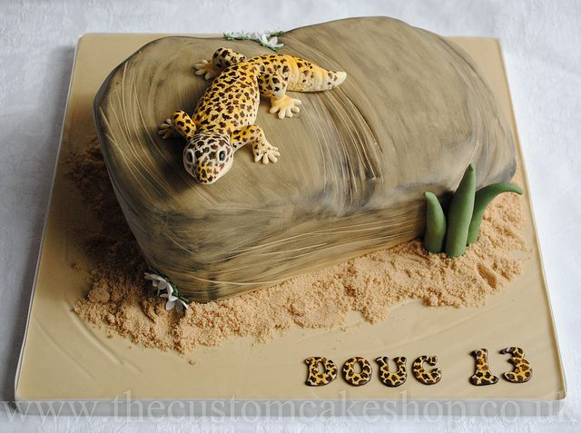 Leopard Gecko Birthday Cake | Flickr - WOW!