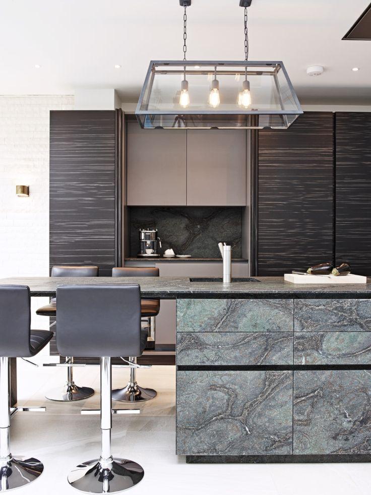 Eggersmann Design Black Musk Granite Island With Black And