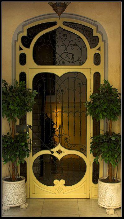 LOVEThe Doors, Art Nouveau, Entry Doors, Doors Design, Front Doors, Beautiful Doors, Entrance Doors, Screens Doors, Yellow Doors