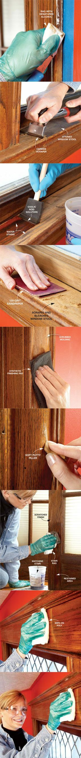 Learn how to revive trim at http://www.familyhandyman.com/DIY-Projects/Trim/DIY-Tips-On-Trim/trim-repair-how-to-fix-and-revive-trim/View-All #DIY #home-improvement #wood #projects