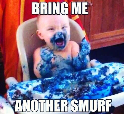 Smurf destroyer http://melanysguydlines.com #funny #meme #blogger