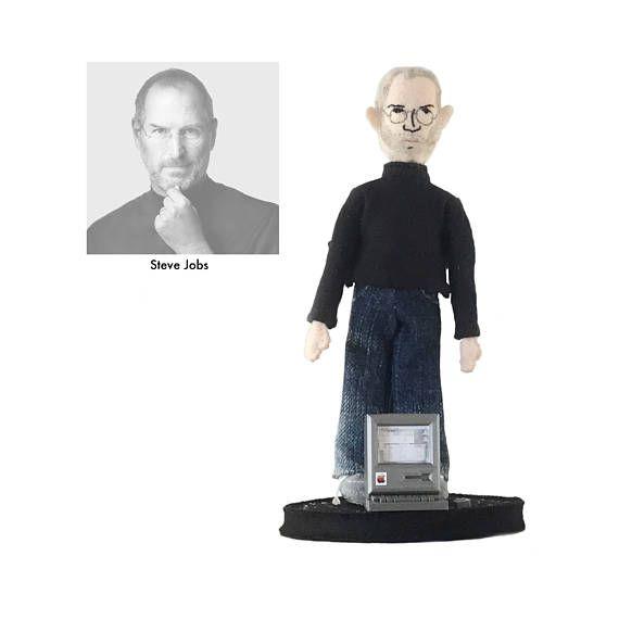Steve Jobs doll handmade one of a kind