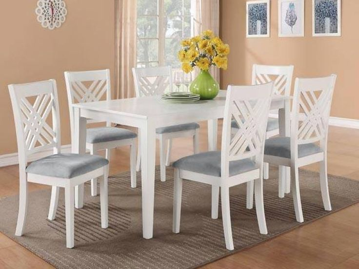 33 Best Dining Rooms Images On Pinterest  Table Settings Dining Enchanting White Dining Room Table And 6 Chairs Decorating Design