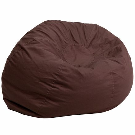 Oversized Solid Brown Bean Bag Chair DG-BEAN-LARGE-SOLID-BRN-GG - schoolfurniture4less.com