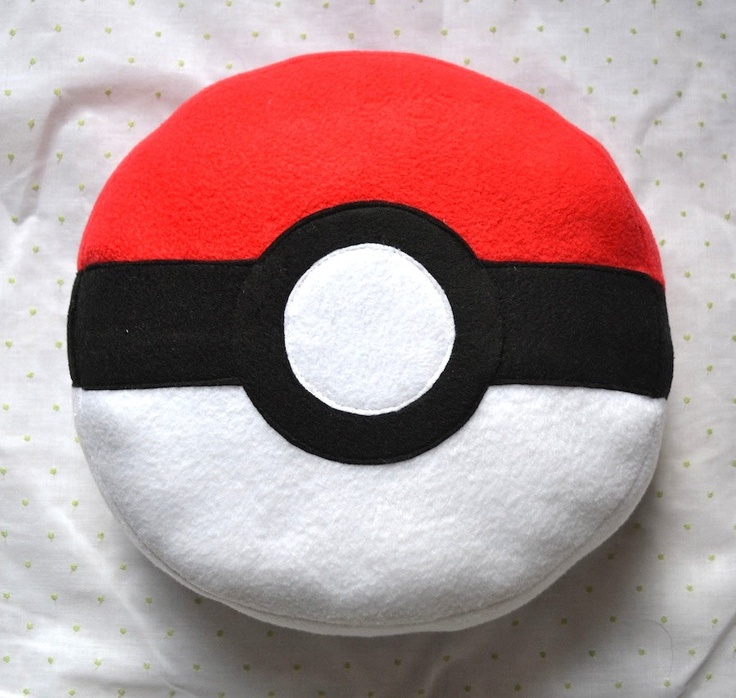 Pokeball Pillow / Plush. $15.00, via Etsy.