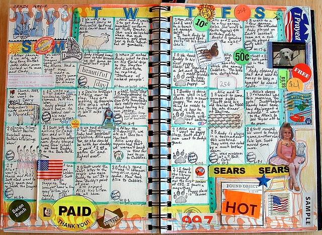 Art Journal Calendar Pages : Images about art journals on pinterest sketchbooks