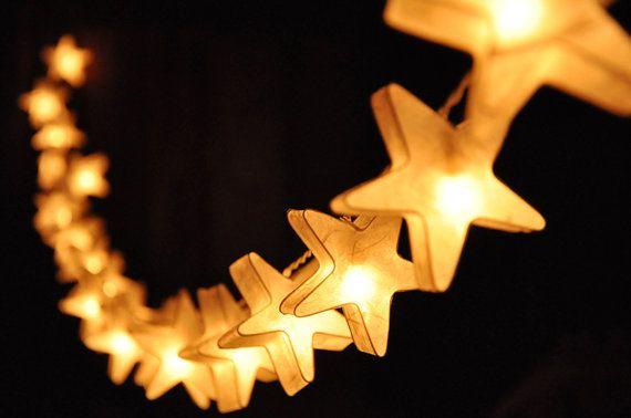 20 LED bianco stelle  carta Lanterna String luci per di DDLIGHTS