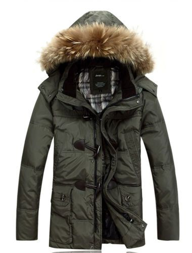 Fashion Mens Duck Down Coat Hooded Thicken Warm Winter Parka Jacket Overcoat New | eBay