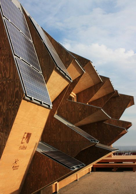 It's rare to see a building's form so adapted to maximizing renewable energy potential as ...