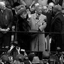 "David Dinkins was sworn in as New York City's 1st African-American mayor, and is, to date, the only African American to hold that office. MAYORALTY: Dinkins entered office pledging racial healing, and famously referred to New York City's demographic diversity as a ""gorgeous mosaic."" Dinkins' term wa...David Dinkins was sworn in as New York City's 1st African-American mayor, and is, to date, the only African American to hold that office. MAYORALTY: Dinkins entered office pledging racial…"