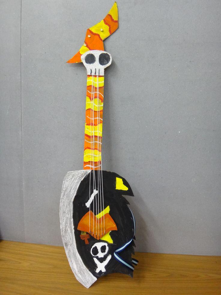 米羅 為自己設計一把吉他 Miro Designed for himself a guitar