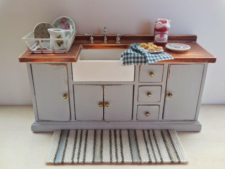 244 best Dollhouse - Kitchens images on Pinterest | Doll houses ...