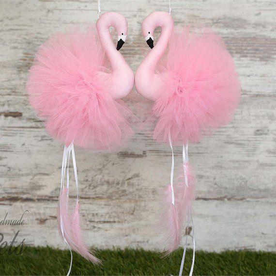 Flamingos Mobile Pink Home Decoration Nursery Decor Baby Gift Room B