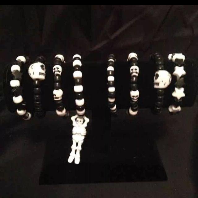 Goth Punk Skull Skeleton Kandi Rave Bracelets